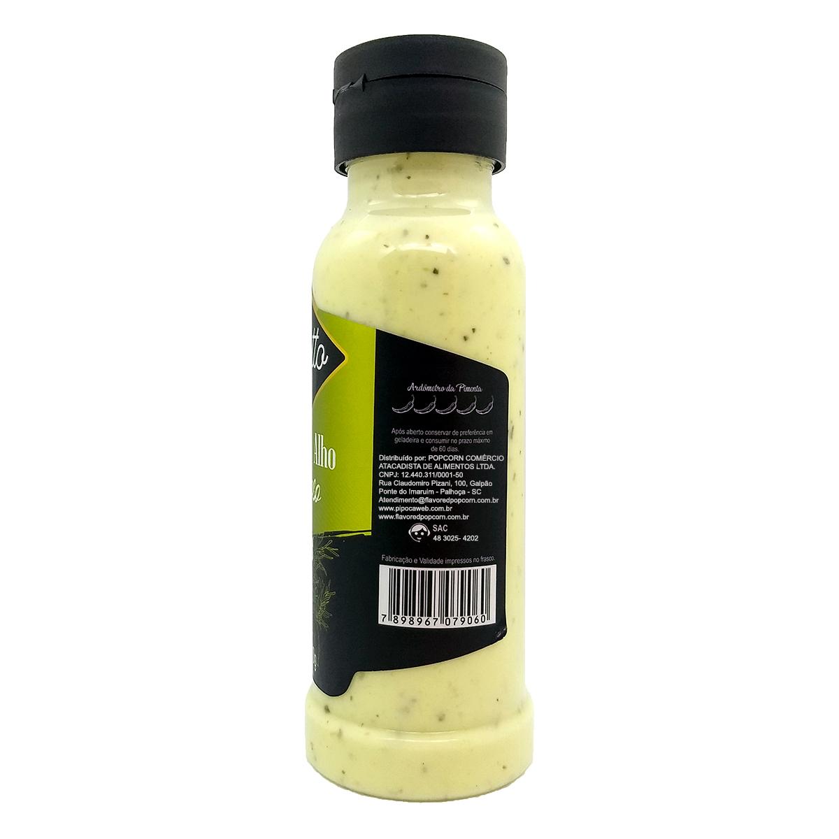 Molho de Alho Cremoso com Ervas 270 ml.
