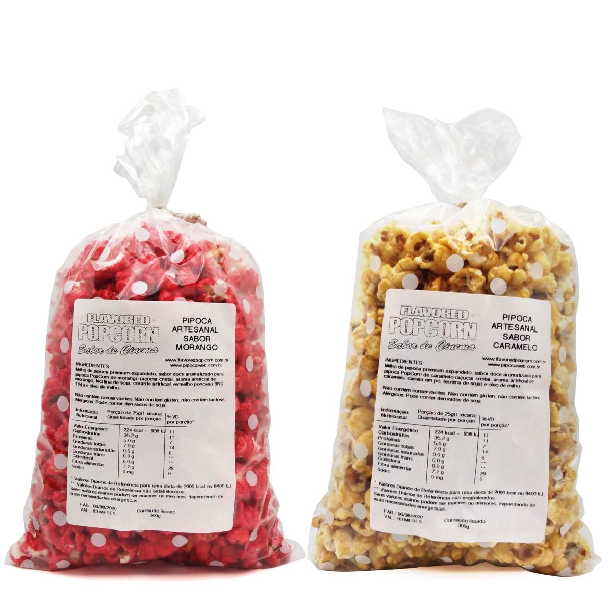 Pipoca Artesanal Popcorn - 18 Sabores Doces e 21 Sabores Salgados