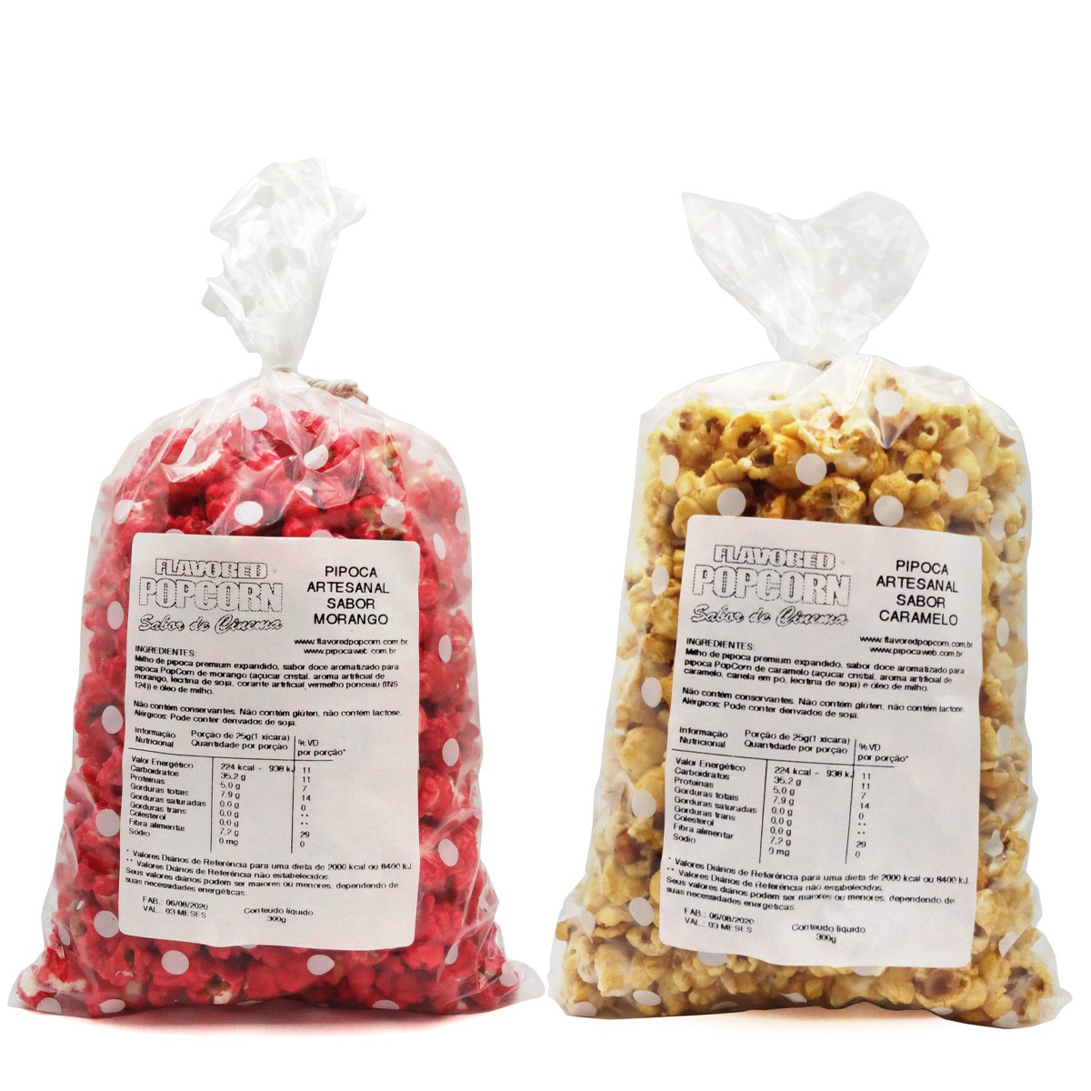 Pipoca Artesanal Popcorn - 18 Sabores Doces e 21 Sabores Salgados + balde de pipoca