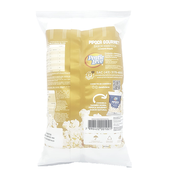 Pipoca Gourmet Sabor Manteiga - 40g