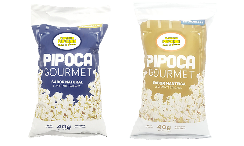 Pipoca Gourmet - Sabores Natural e Manteiga - 40g