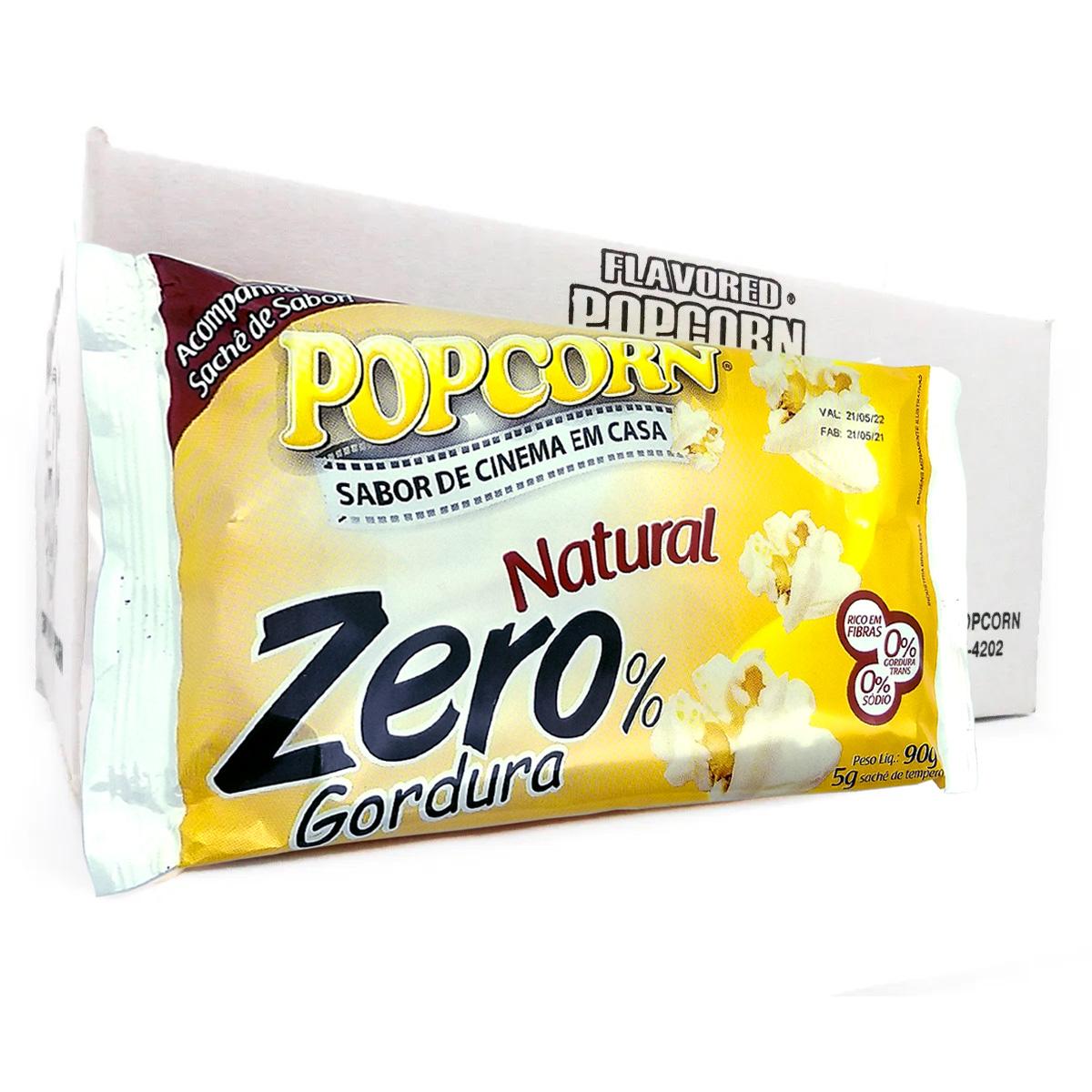 Pipoca Micro-ondas Popcorn Zero c/ sachê. Caixa c/16 un - R$ 1,93 cada
