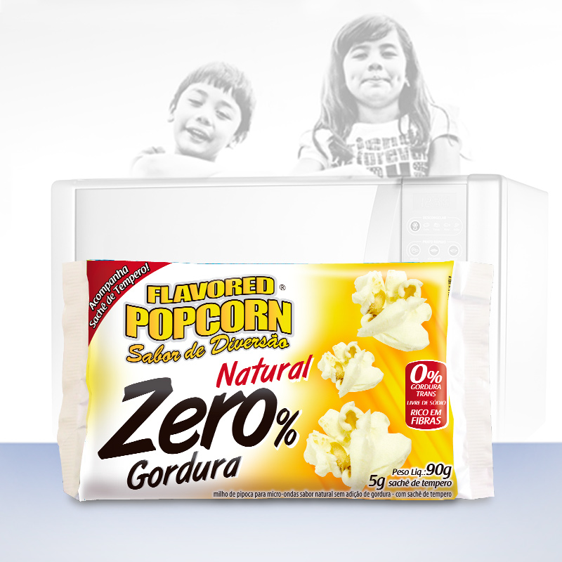 Pipoca Micro-ondas Zero % gordura c/ sachê sabor 6 Unidades