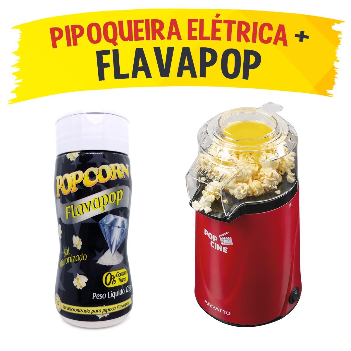 Pipoqueira Elétrica POP CINE + Flavapop