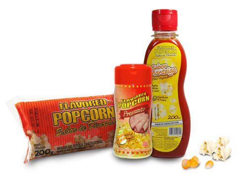 Popcorn Premium 200g milho + Óleo Sabor Manteiga + Tempero Popcorn Presunto