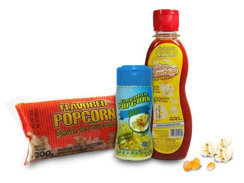Popcorn Premium 200g milho + Óleo Sabor Manteiga + Tempero Popcorn Queijo