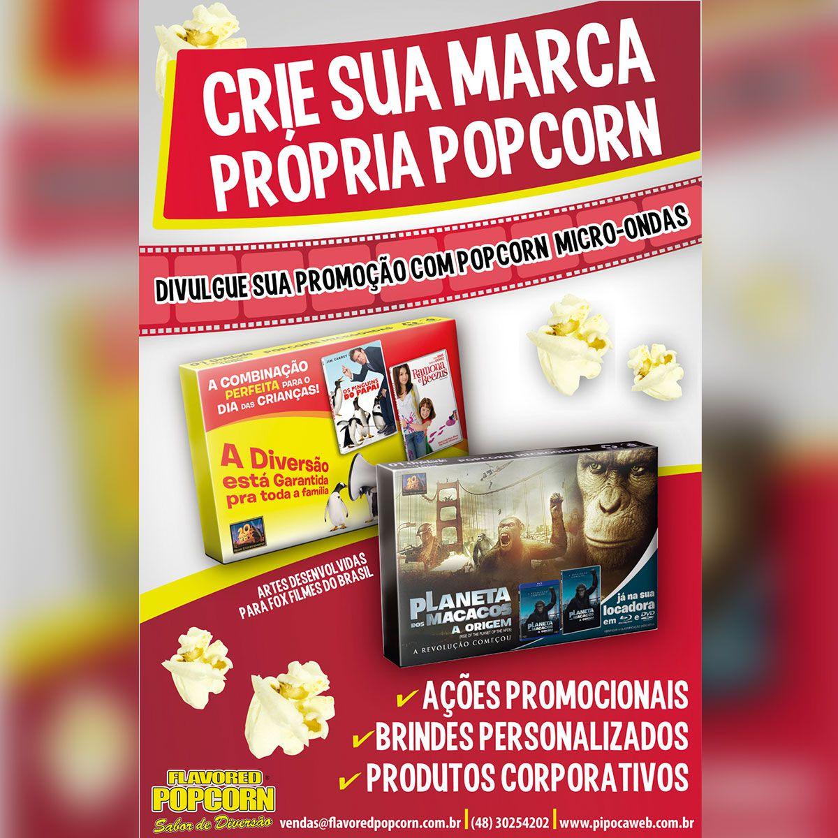 Sua marca própria em popcorn de microondas - Faça seu orçamento