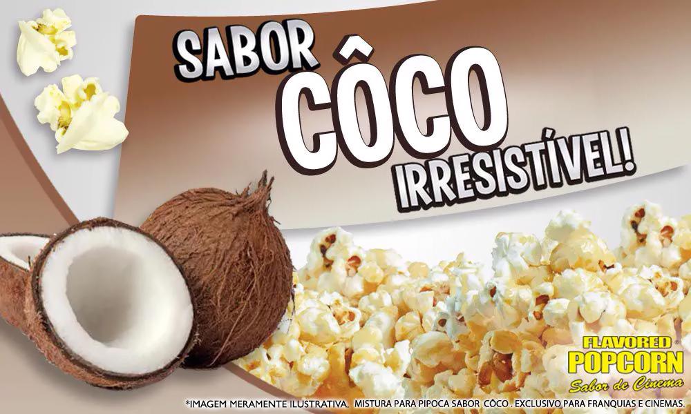 Sabores p/ caramelizar Pipoca Doce - Coco - 1kg