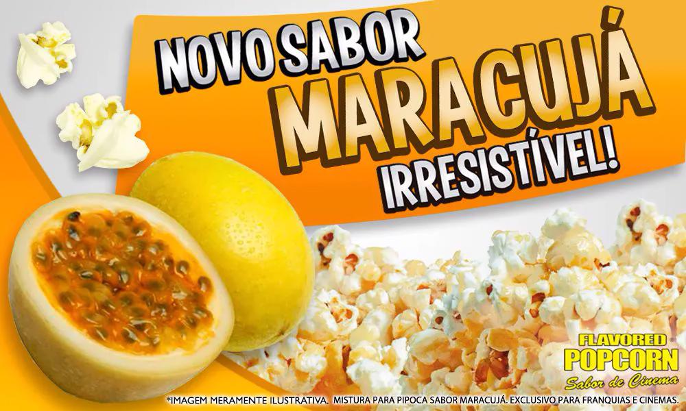 Sabores p/ caramelizar Pipoca Doce - Maracujá - 1kg