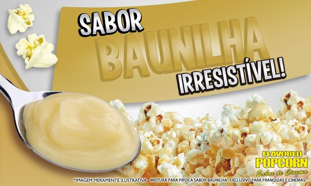 Sabores p/ caramelizar Pipoca Doce - sabor Baunilha - 1kg