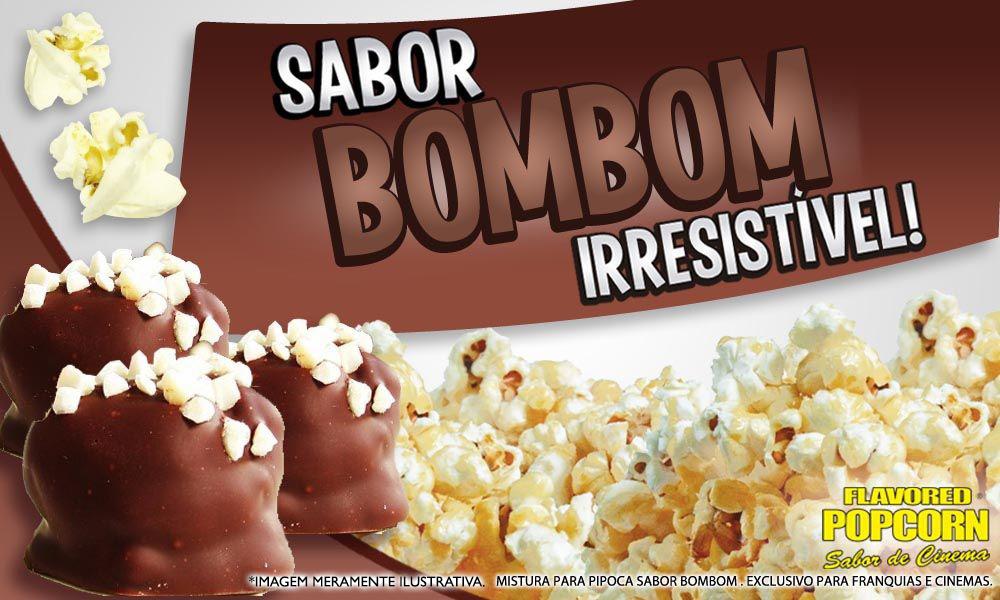 Sabores p/ caramelizar Pipoca Doce - sabor Bombom - 1kg