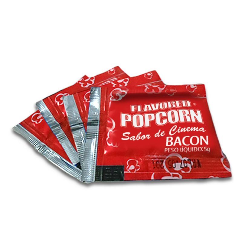 Temperos Popcorn Sachês 5g - Bacon (100 unidades)