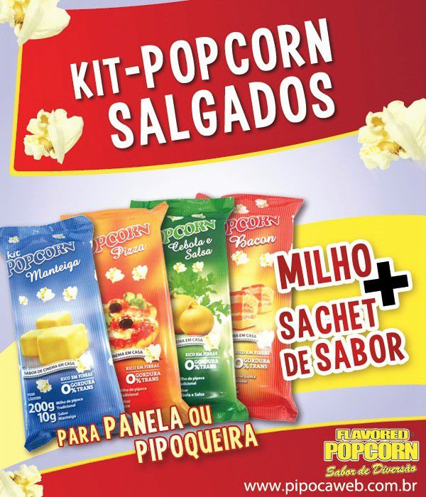 TemperoS Popcorn Sachês 5g - Queijo (100 unidades)
