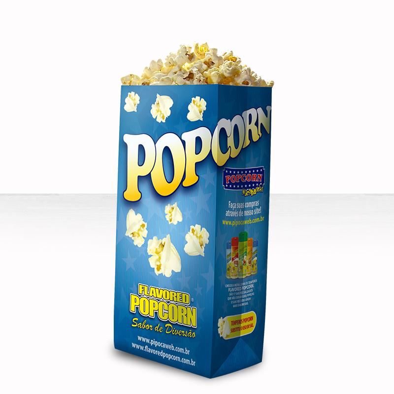 Embalagens Sacos p/ pipocas (Grande) - Pacote c/ 25 unidades - SUPER
