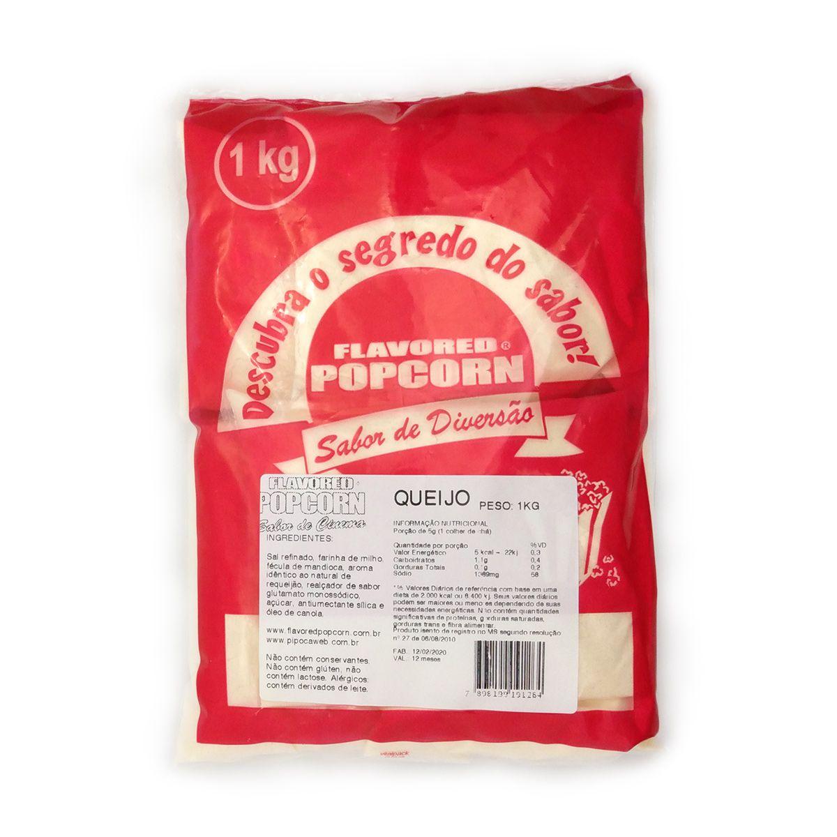 Tempero Pipoca Popcorn - Sabor Queijo - 1kg