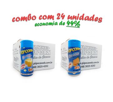 TEMPEROS P/ PIPOCA - Cx 24 FRASCOS - 12 MANTEIGA - 12 CHEDDAR