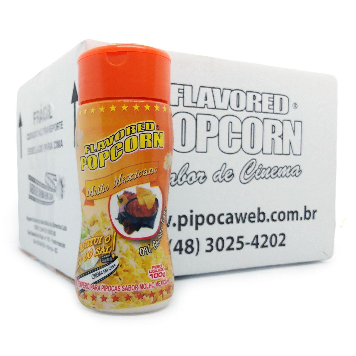TEMPEROS P/ PIPOCA - CAIXA C/ 12 - MOLHO MEXICANO 100g