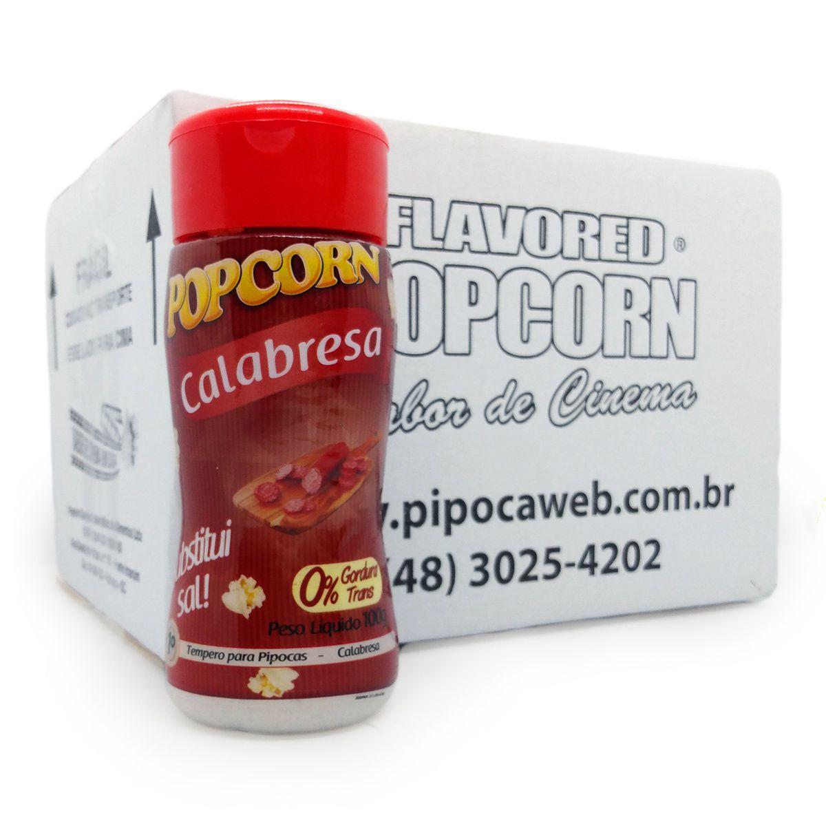 TEMPEROS P/ PIPOCA - CAIXA C/ 12 - SABOR CALABRESA 100g