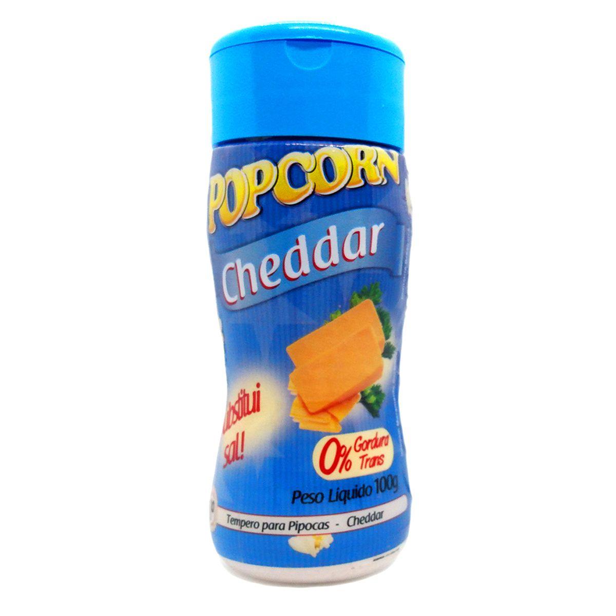 Tempero de pipoca - SABOR CHEDDAR - 100g