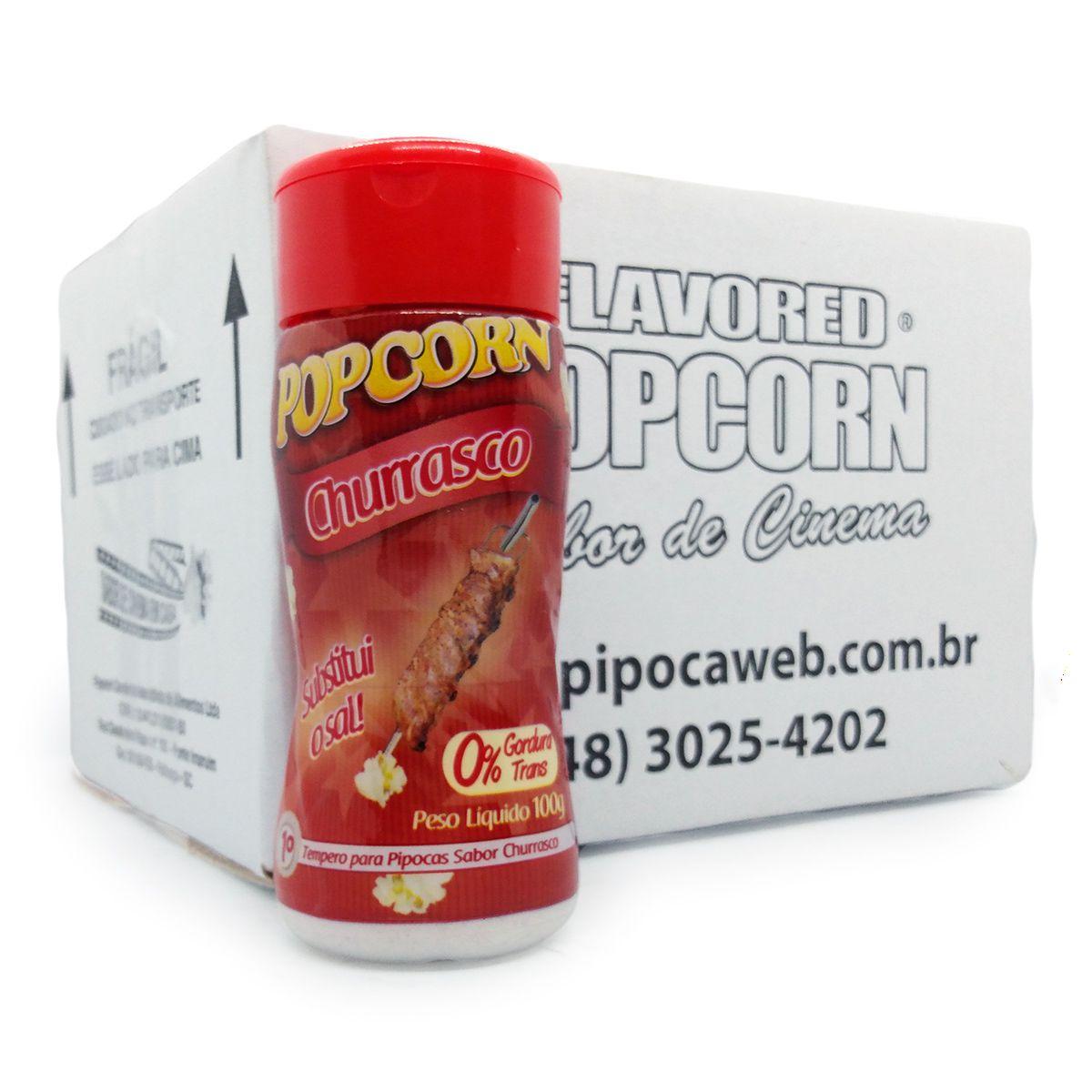 TEMPEROS P/ PIPOCA - CAIXA C/ 12 - SABOR CHURRASCO 100g