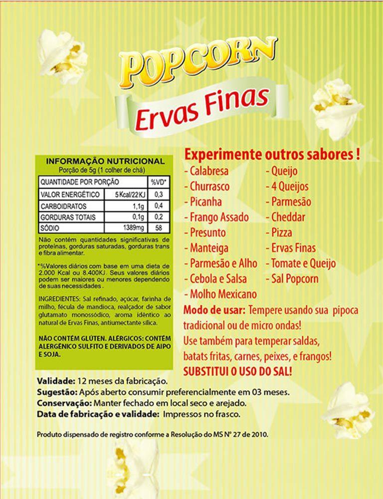 TEMPEROS P/ PIPOCA - SABOR ERVAS FINAS - 100g
