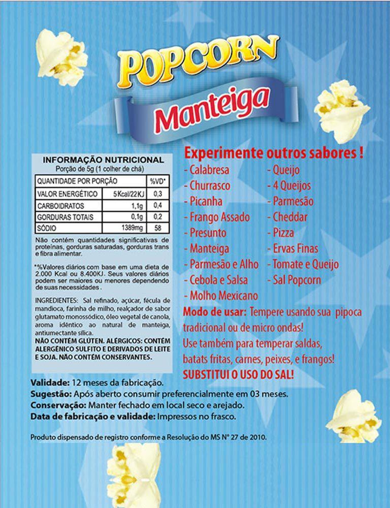 Tempero de pipoca - SABOR MANTEIGA - 100g