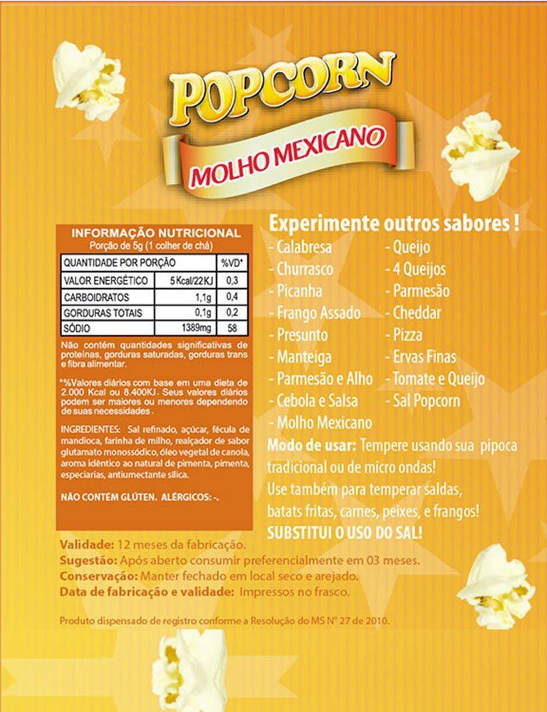 TEMPEROS P/ PIPOCA - SABOR MOLHO MEXICANO - 100g