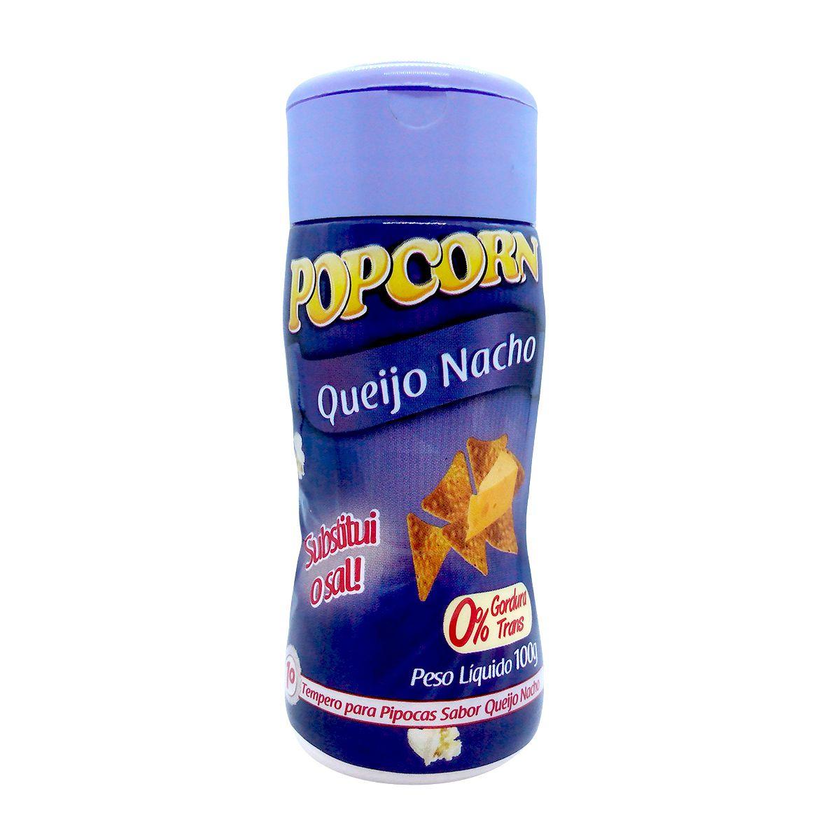 TEMPEROS P/ PIPOCA - SABOR QUEIJO NACHO - 100g