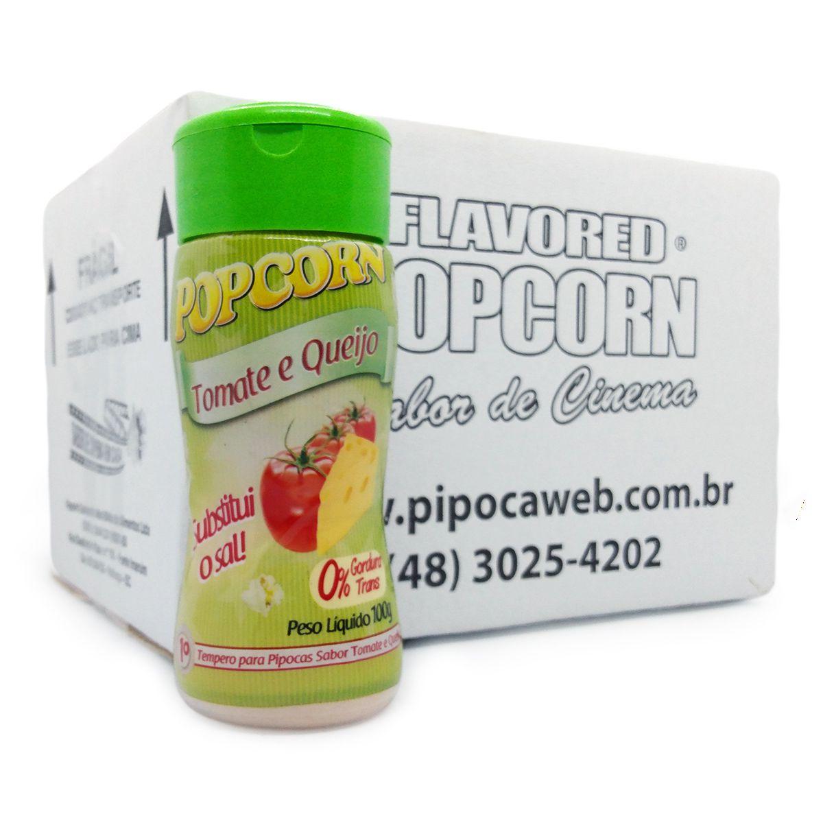 TEMPEROS P/ PIPOCA - SABOR TOMATE E QUEIJO 100g - Caixa c/ 12 Un - R$ 7.66