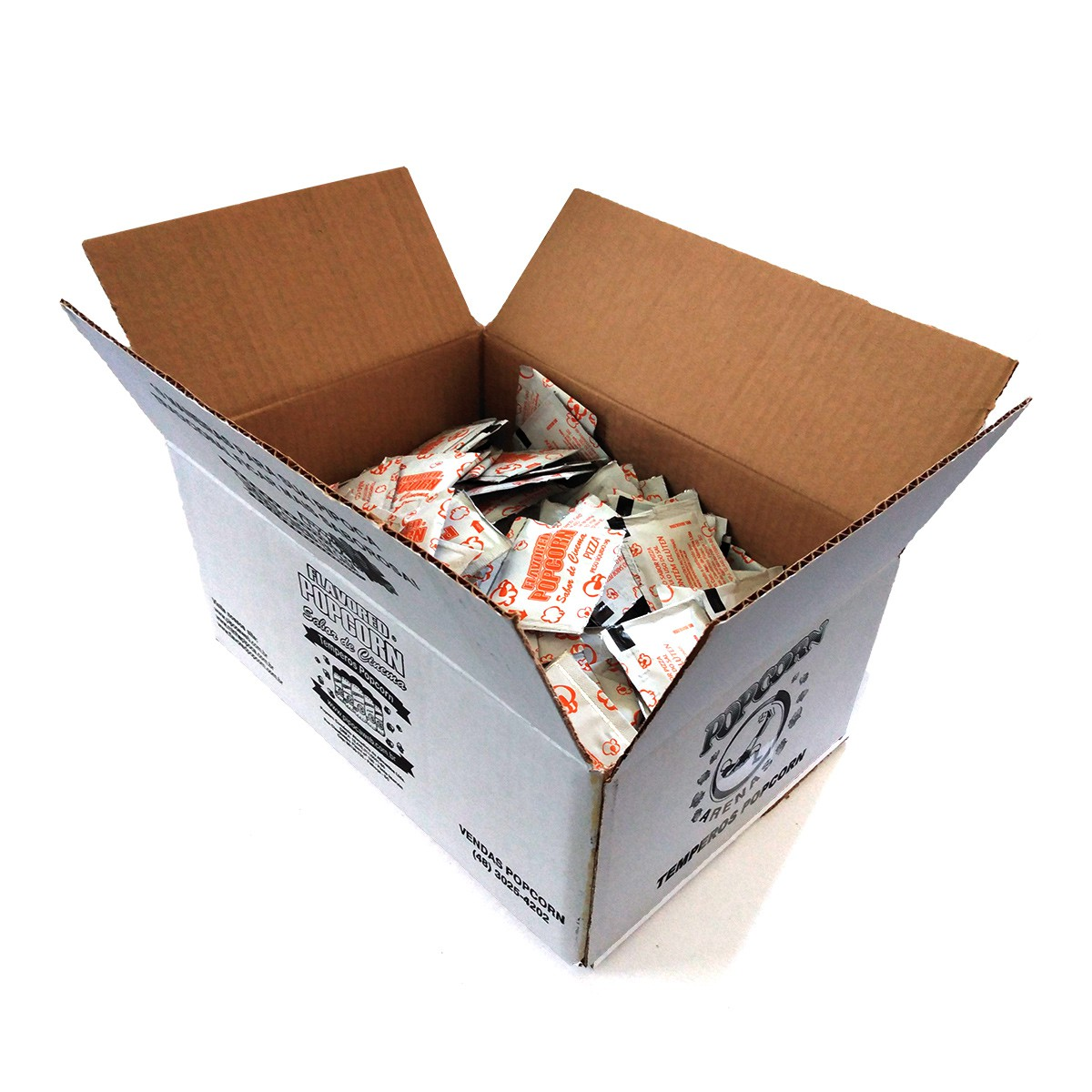 Temperos Popcorn Sachês 5g - 8 sabores - Caixa c/ 200 sachês- Escolha os sabores