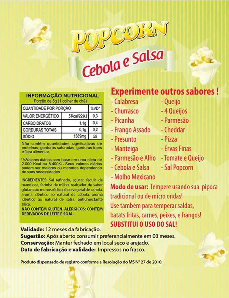 Temperos Popcorn Sachês 5g - Cebola e Salsa (100 unidades)