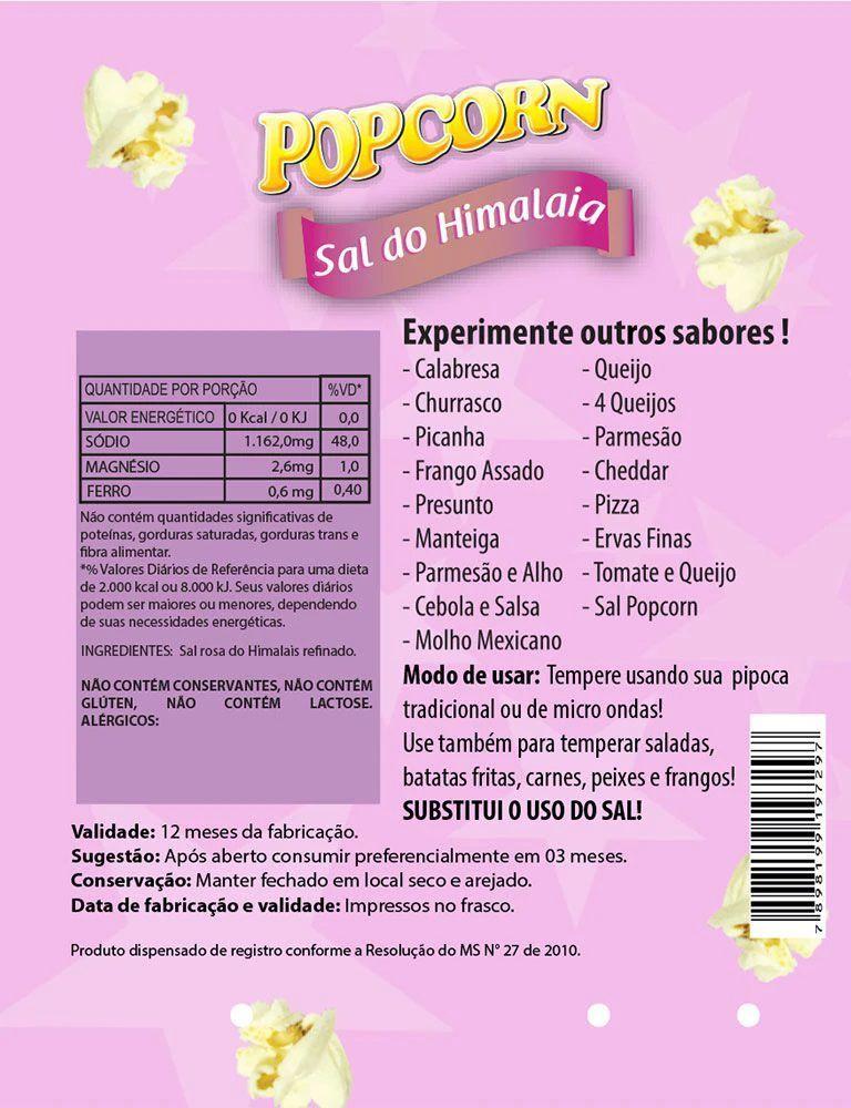 Temperos Popcorn Sachês 5g - Sal do Himalaia (100 unidades)