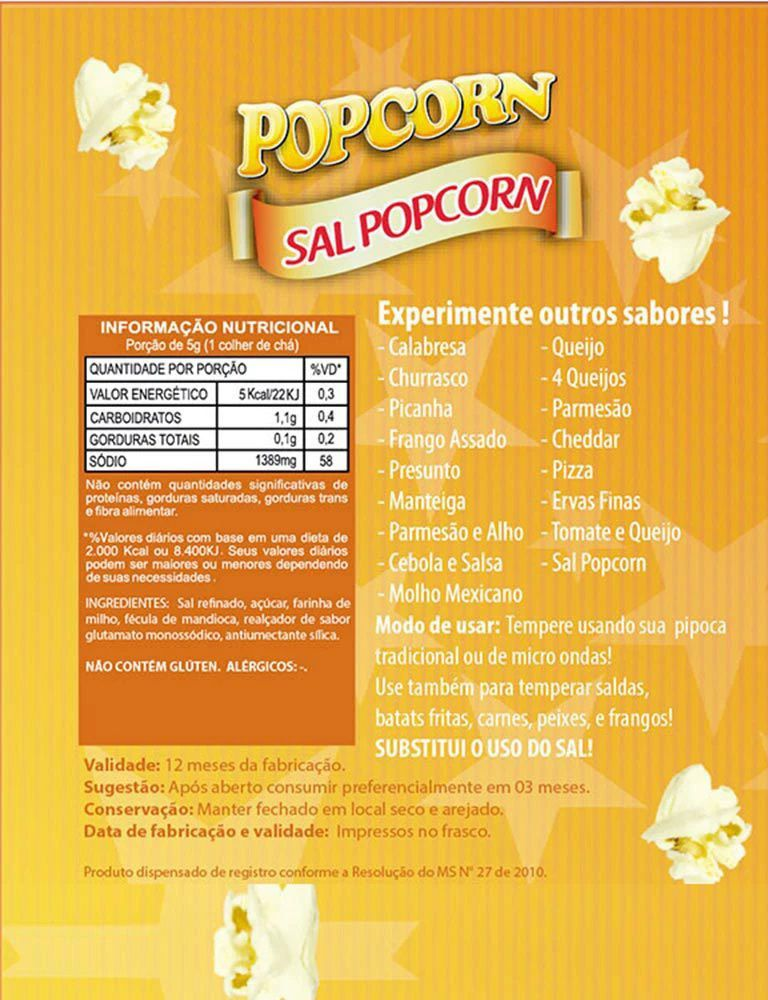 Temperos Popcorn Sachês 5g - Sal Especial Popcorn (100 unidades)