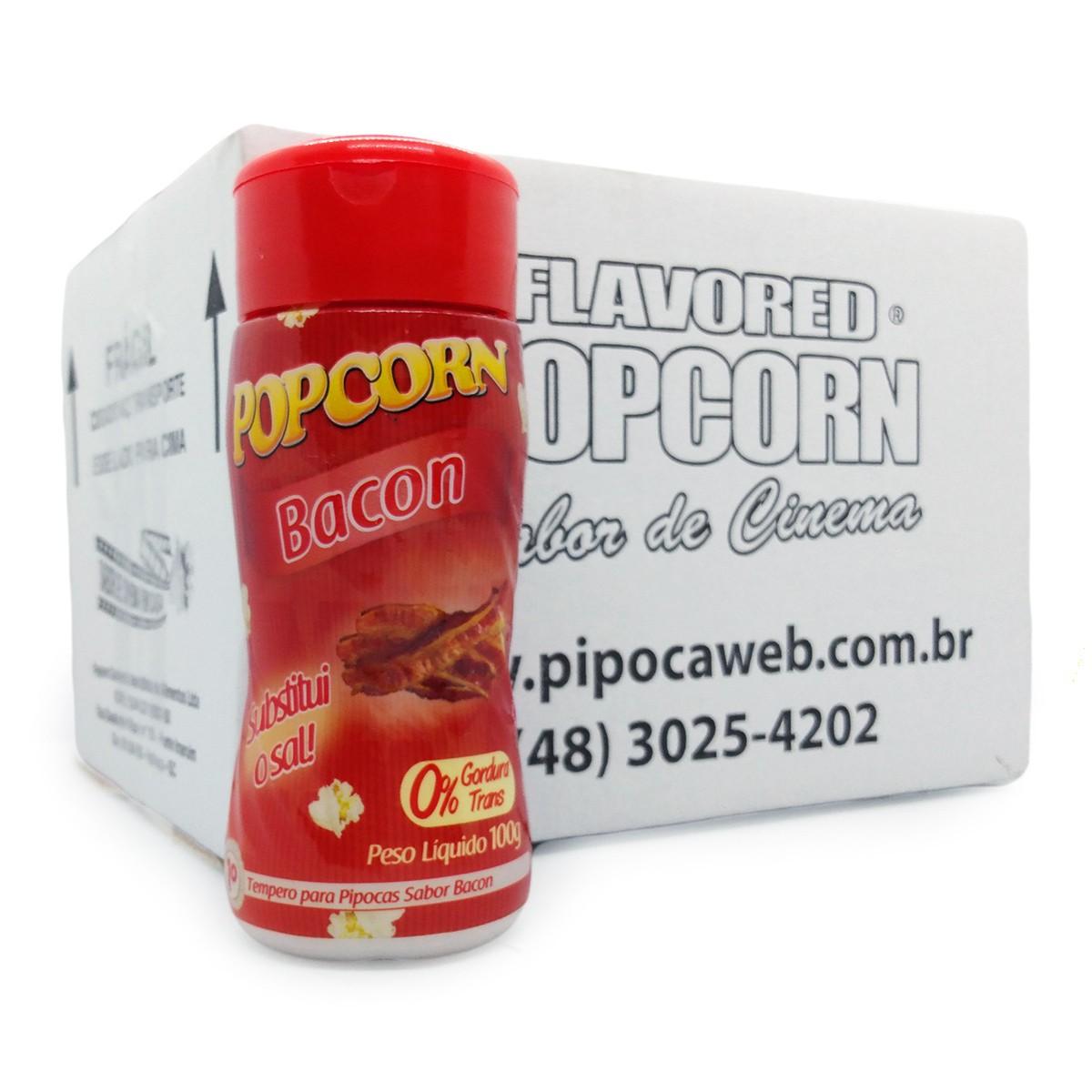 TEMPEROS P/ PIPOCA POPCORN - 21 Sabores - Escolha seu Sabor - Caixa c/ 24 Frascos 100g - Atacado