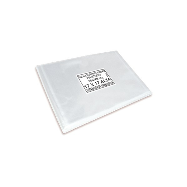 Folha Separadora de Hamburguer 17x17 c/ 1 kg  - Emar - Loja Virtual
