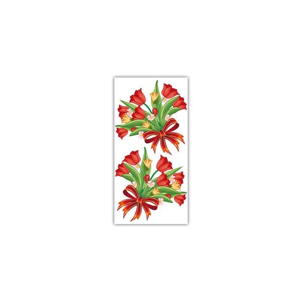 Sacos para Presente - Rosa Vermelha com 100 unidades