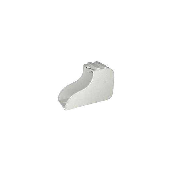 Ponteira 50 x 30 mm Externa Bota Cinza Cristal c/ 50 unidades  - Emar - Loja Virtual