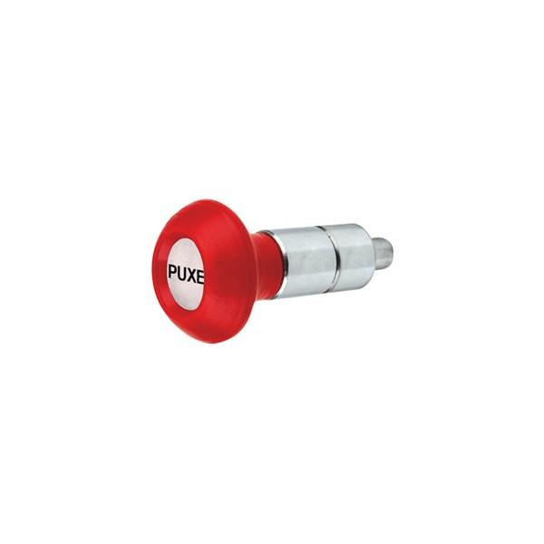 Puxador 2 Corpos - Modelo 1 c/ Esférico Vermelho  - Emar - Loja Virtual