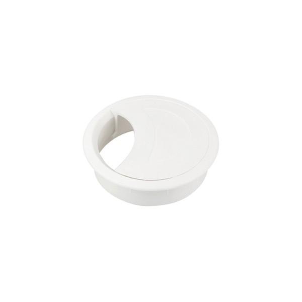 Passa Fio Branco 60 mm P/ Tampo 18 mm c/ 250 unidades  - Emar - Loja Virtual