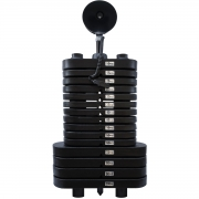 Bateria de Peso Pintada de 100 kg com Roldana - Torre de Peso