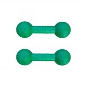 Kit com 2 Halteres Injetados Verdes
