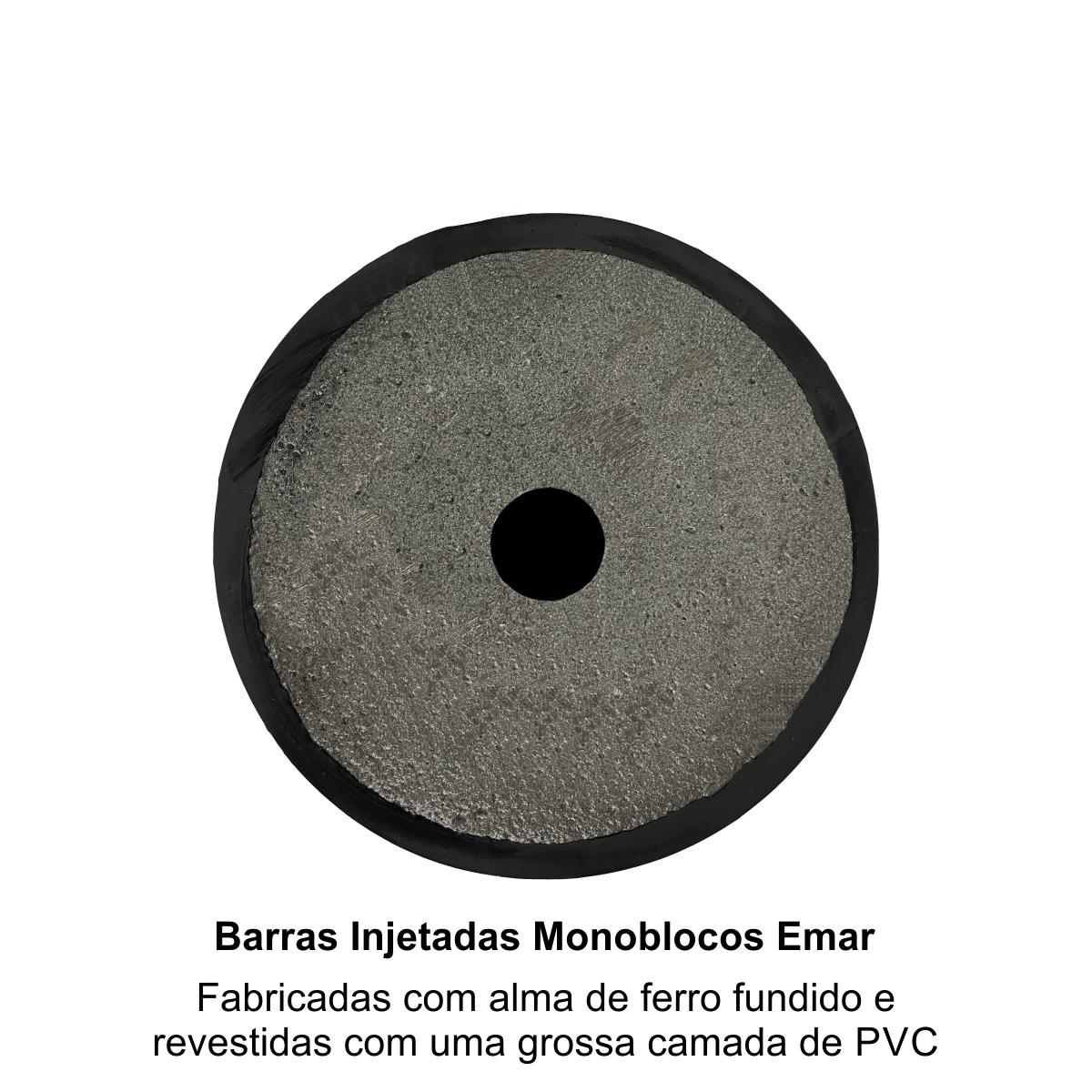 Barra Injetada Monobloco - Pegada com 1 metro - Revestida com Grossa Camada de PVC