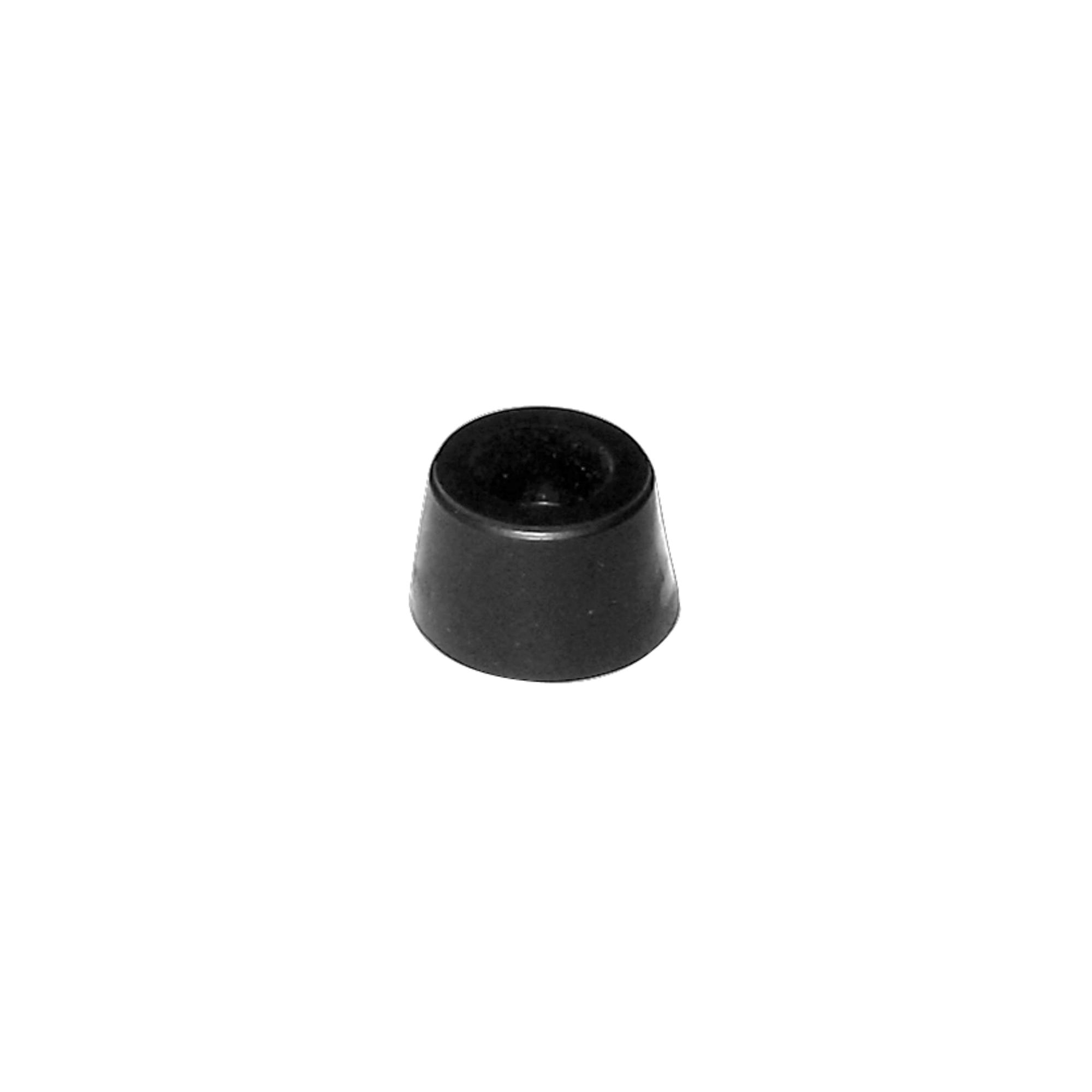 Batente PVC Pequeno Cônico Preto