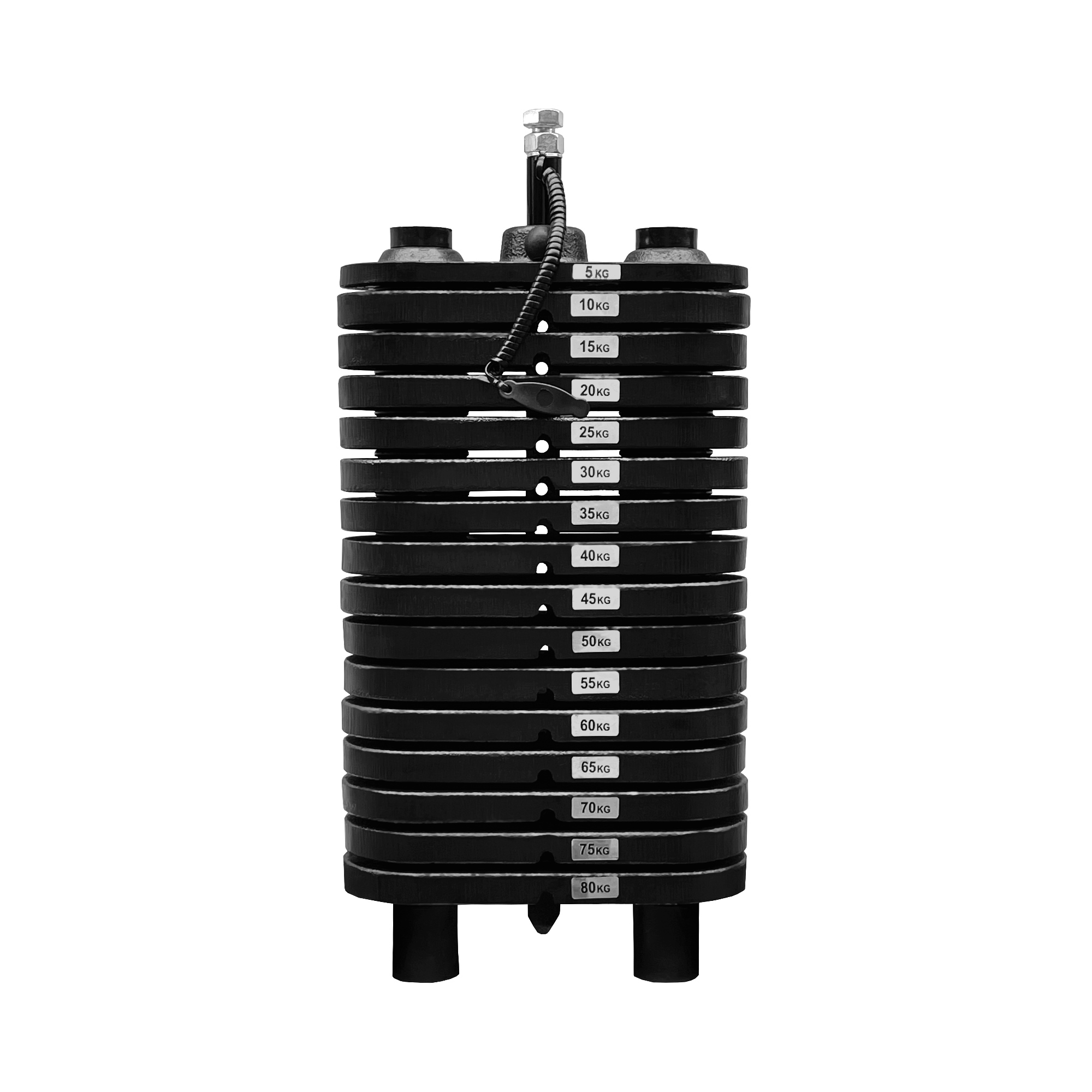 Bateria de Peso Pintada de 80 kg - Torre de Peso