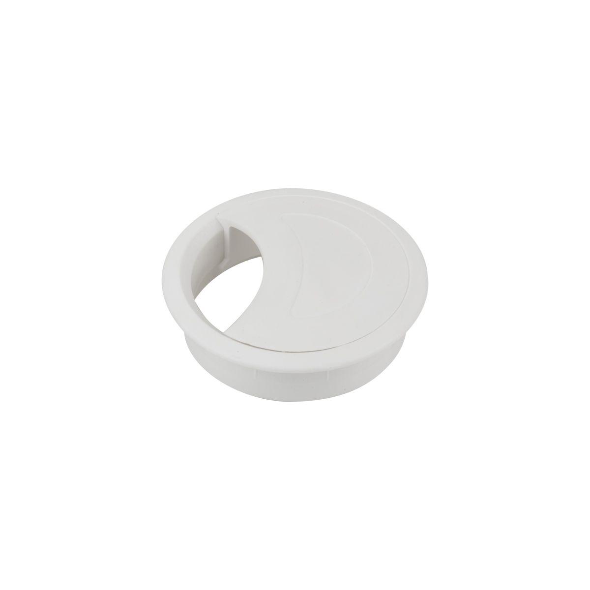 Passa Fio Plástico para Móveis Branco