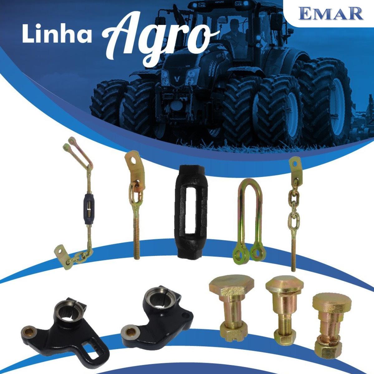 Pino do Braço do Levante Hidráulico - Cabeça Retangular - Linha Agrícola