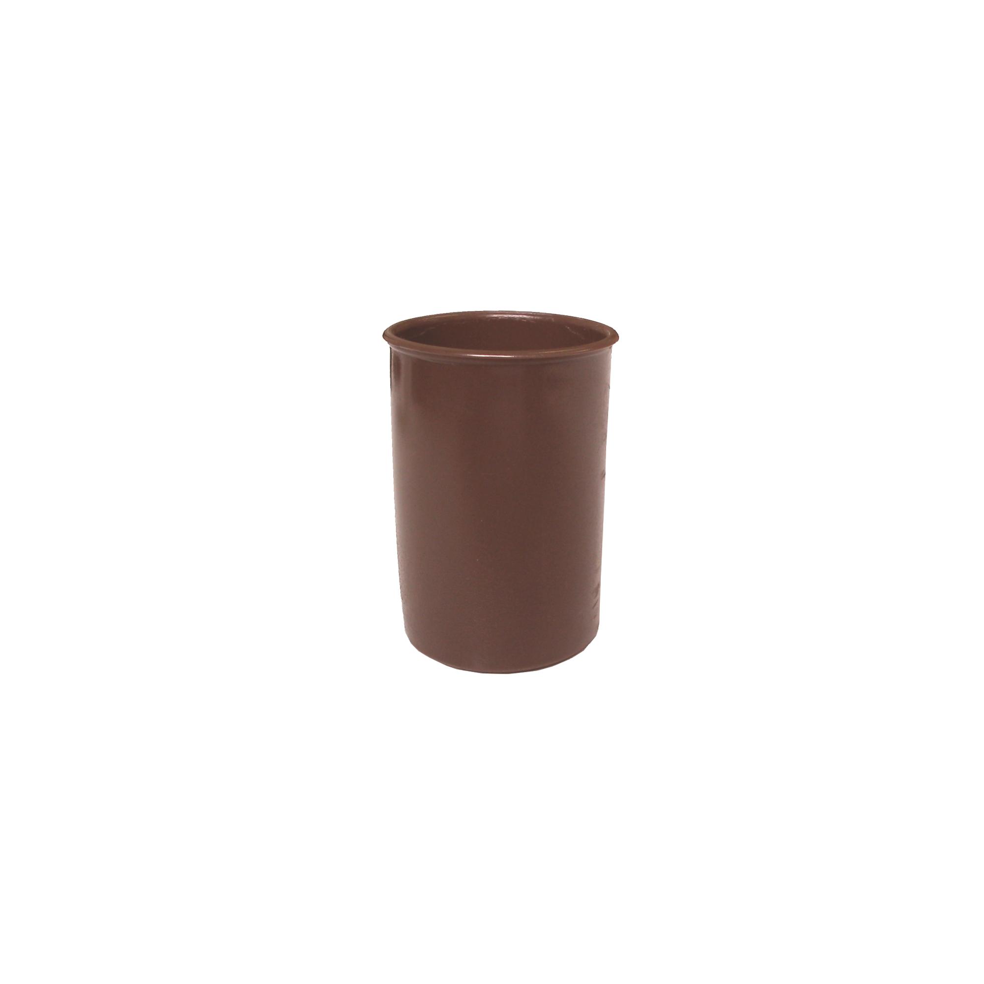 Potinho Plástico Castanho