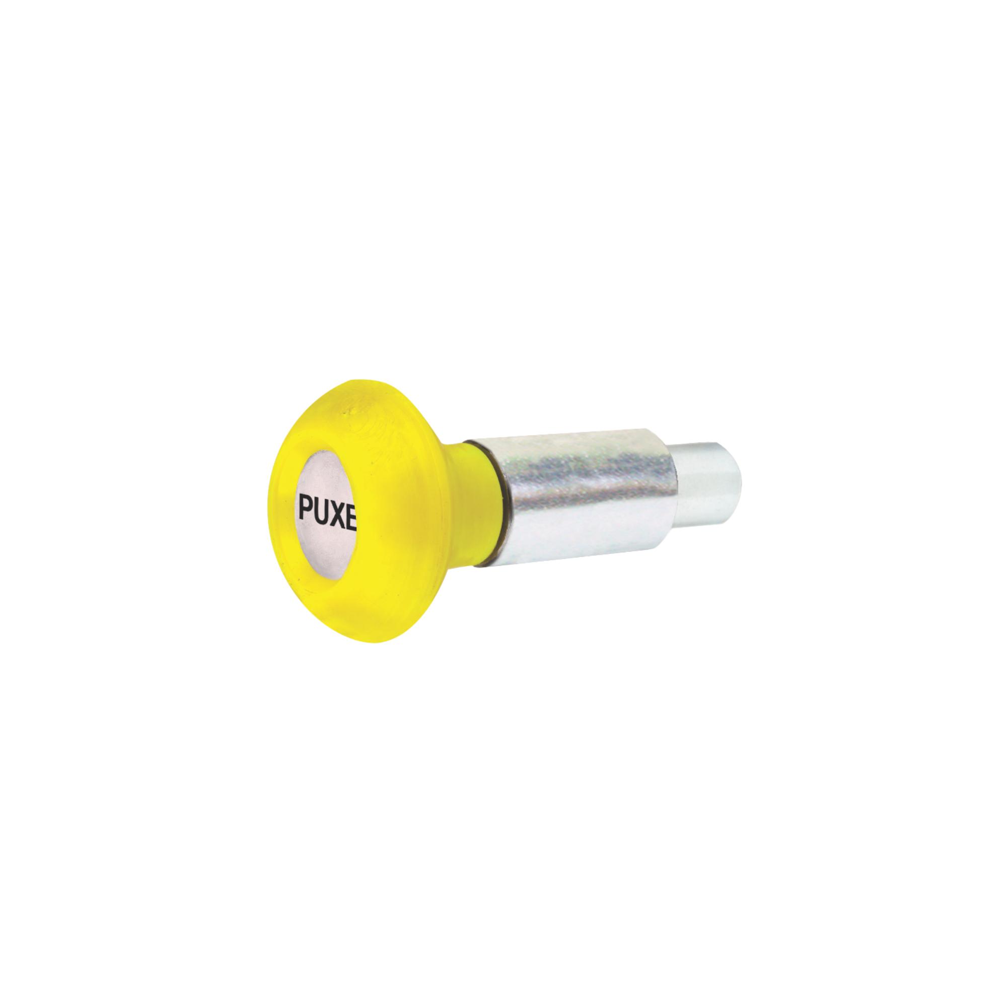 Puxador 1 Corpo com Mola - Esférico Amarelo