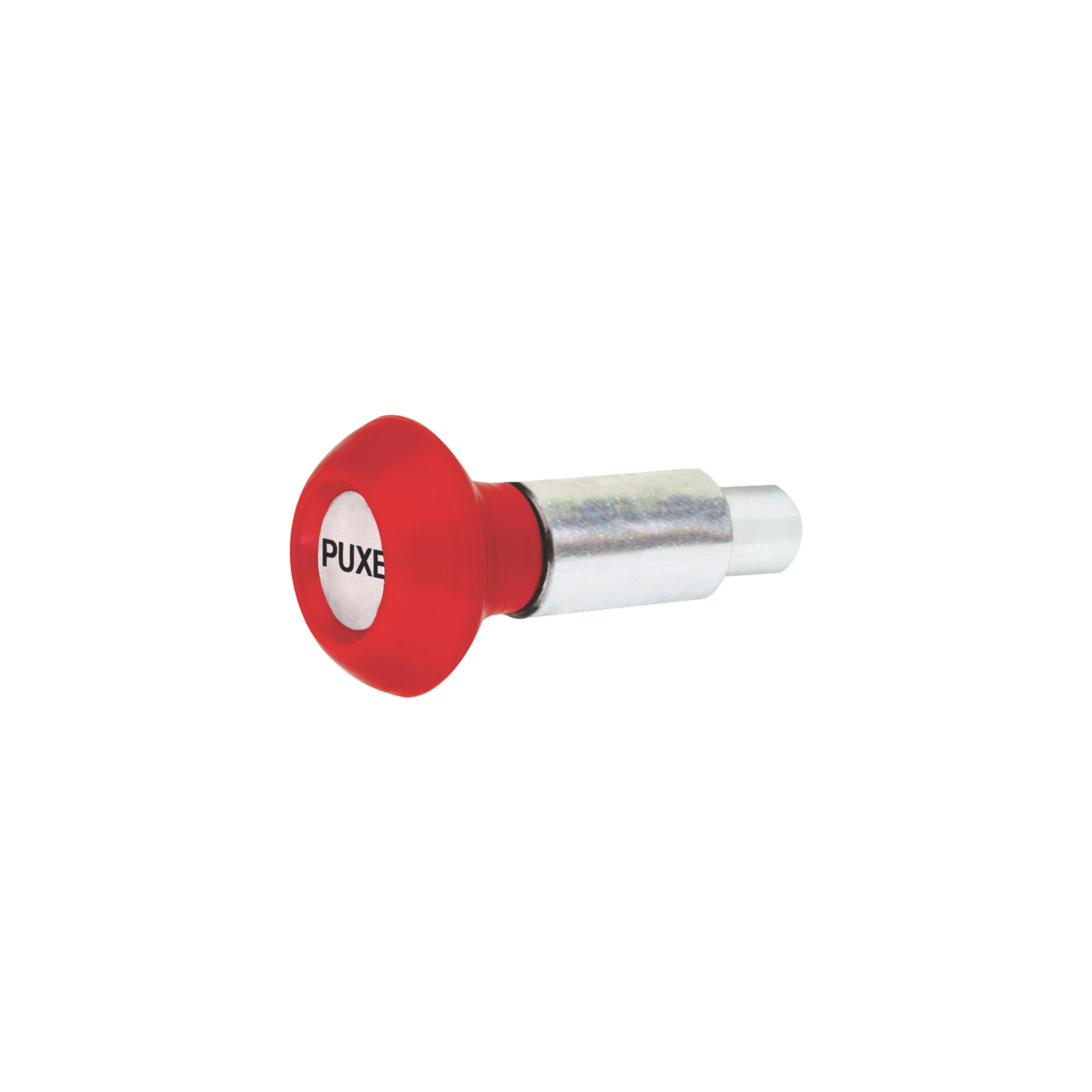 Puxador 1 Corpo com Mola - Esférico Vermelho
