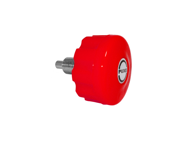 Puxador c/ Trava 11 x 20 mm PTT Vermelho c/ Adesivo sem Porca  - Emar - Loja Virtual